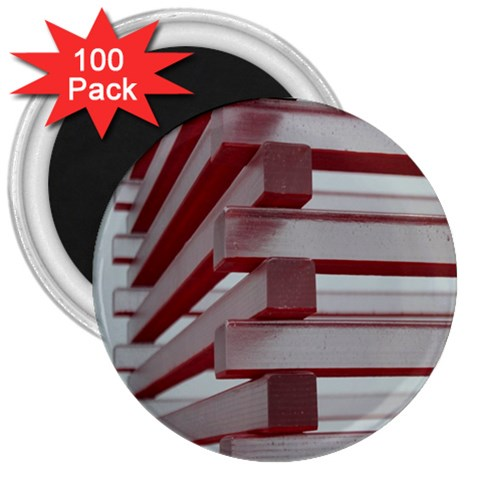 Red Sunglasses Art Abstract  3  Magnets (100 pack)