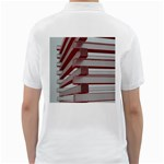Red Sunglasses Art Abstract  Golf Shirts Back