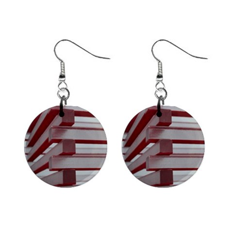 Red Sunglasses Art Abstract  Mini Button Earrings