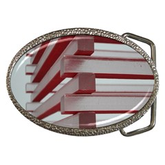 Red Sunglasses Art Abstract  Belt Buckles