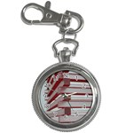 Red Sunglasses Art Abstract  Key Chain Watches Front