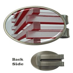 Red Sunglasses Art Abstract  Money Clips (Oval)