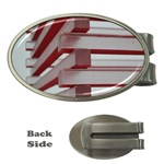 Red Sunglasses Art Abstract  Money Clips (Oval)  Front
