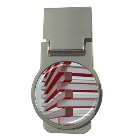 Red Sunglasses Art Abstract  Money Clips (Round)