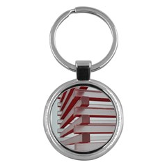 Red Sunglasses Art Abstract  Key Chains (Round)