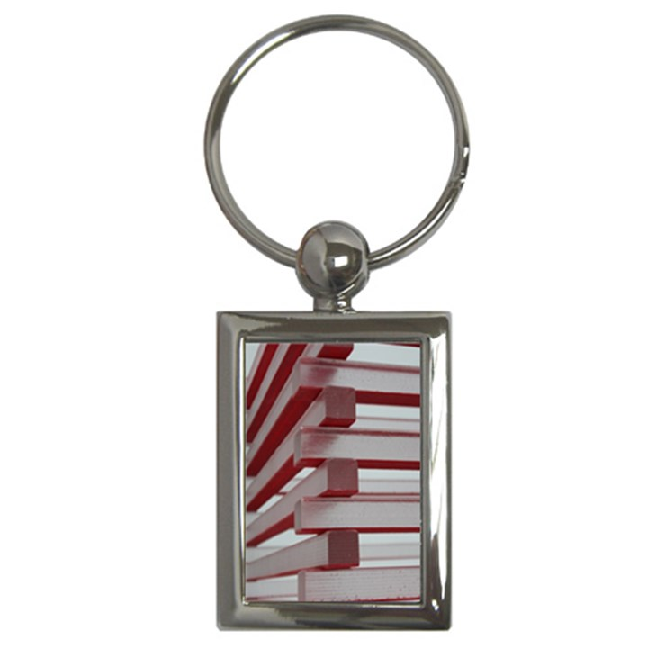 Red Sunglasses Art Abstract  Key Chains (Rectangle)
