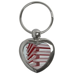 Red Sunglasses Art Abstract  Key Chains (Heart)