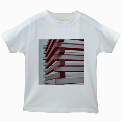 Red Sunglasses Art Abstract  Kids White T-Shirts