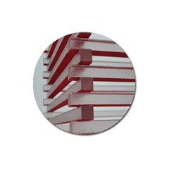 Red Sunglasses Art Abstract  Magnet 3  (Round)