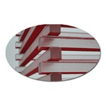 Red Sunglasses Art Abstract  Oval Magnet Front