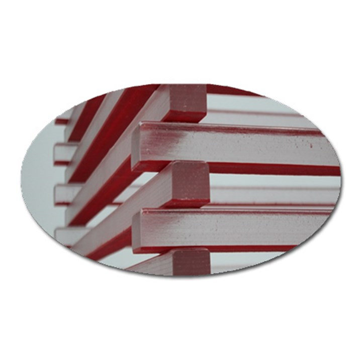 Red Sunglasses Art Abstract  Oval Magnet