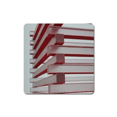 Red Sunglasses Art Abstract  Square Magnet