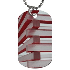 Red Sunglasses Art Abstract  Dog Tag (One Side)