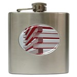Red Sunglasses Art Abstract  Hip Flask (6 oz) Front