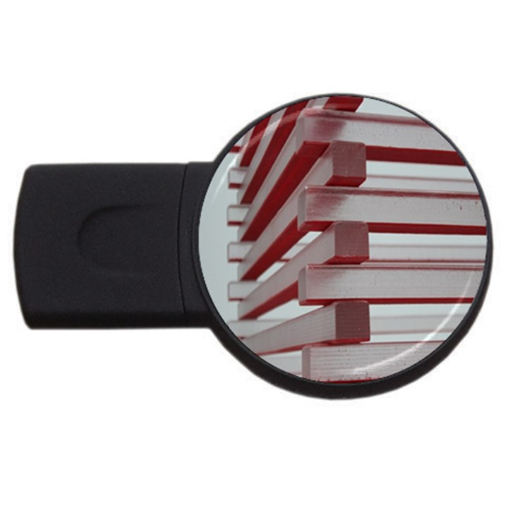 Red Sunglasses Art Abstract  USB Flash Drive Round (2 GB)