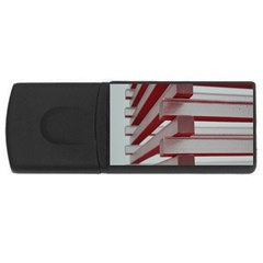 Red Sunglasses Art Abstract  USB Flash Drive Rectangular (1 GB)