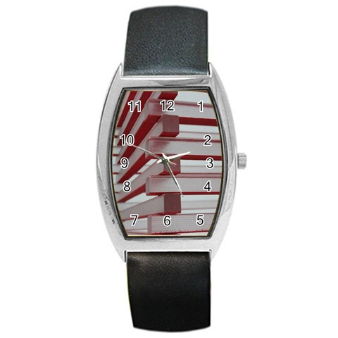 Red Sunglasses Art Abstract  Barrel Style Metal Watch