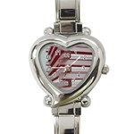 Red Sunglasses Art Abstract  Heart Italian Charm Watch Front