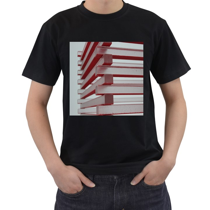 Red Sunglasses Art Abstract  Men s T-Shirt (Black) (Two Sided)