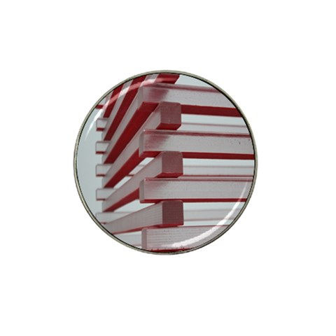 Red Sunglasses Art Abstract  Hat Clip Ball Marker