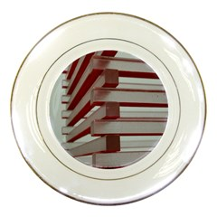 Red Sunglasses Art Abstract  Porcelain Plates