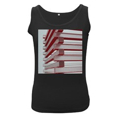 Red Sunglasses Art Abstract  Women s Black Tank Top