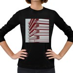 Red Sunglasses Art Abstract  Women s Long Sleeve Dark T-Shirts Front