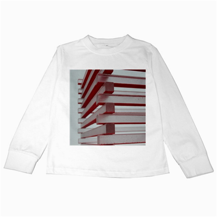 Red Sunglasses Art Abstract  Kids Long Sleeve T-Shirts