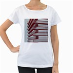 Red Sunglasses Art Abstract  Women s Loose-Fit T-Shirt (White) Front