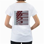 Red Sunglasses Art Abstract  Women s Loose-Fit T-Shirt (White) Back