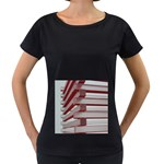Red Sunglasses Art Abstract  Women s Loose-Fit T-Shirt (Black) Front