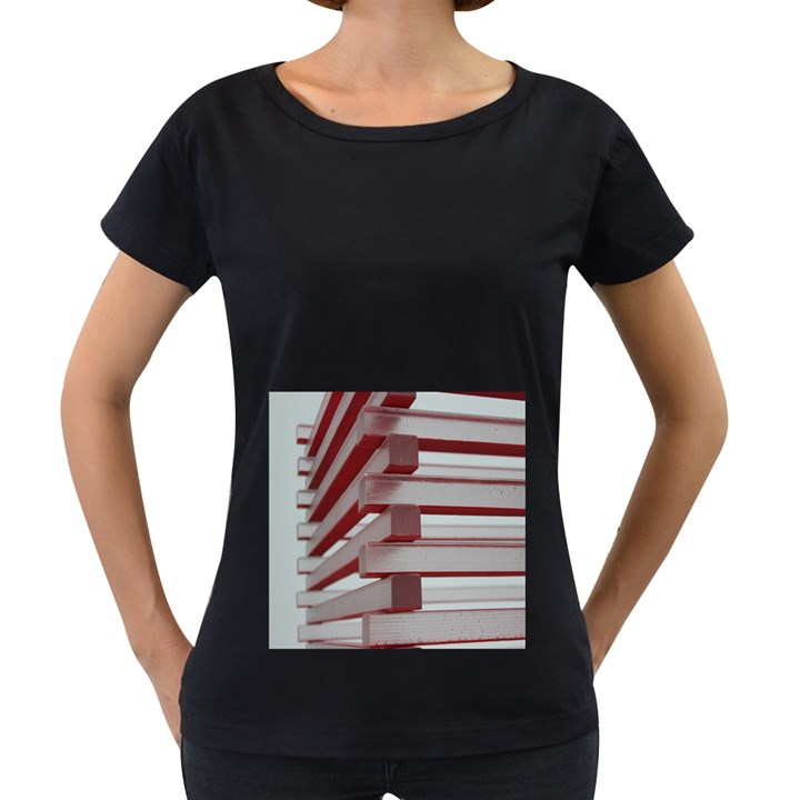 Red Sunglasses Art Abstract  Women s Loose-Fit T-Shirt (Black)