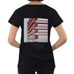 Red Sunglasses Art Abstract  Women s Loose-Fit T-Shirt (Black) Back