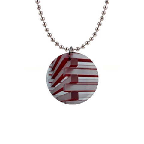 Red Sunglasses Art Abstract  Button Necklaces