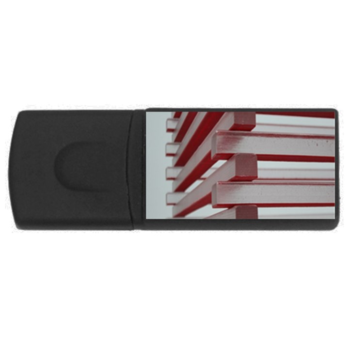 Red Sunglasses Art Abstract  USB Flash Drive Rectangular (4 GB)