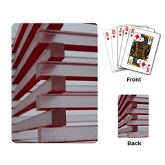 Red Sunglasses Art Abstract  Playing Card