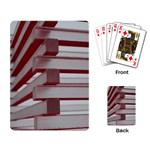 Red Sunglasses Art Abstract  Playing Card Back