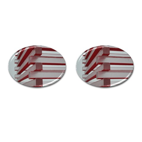 Red Sunglasses Art Abstract  Cufflinks (Oval)