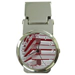 Red Sunglasses Art Abstract  Money Clip Watches Front