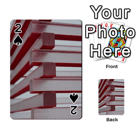 Red Sunglasses Art Abstract  Playing Cards 54 Designs