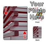 Red Sunglasses Art Abstract  Playing Cards 54 Designs  Front - Heart5