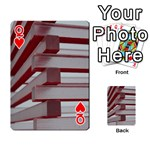 Red Sunglasses Art Abstract  Playing Cards 54 Designs  Front - HeartQ