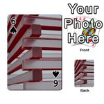 Red Sunglasses Art Abstract  Playing Cards 54 Designs  Front - Spade6