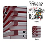 Red Sunglasses Art Abstract  Playing Cards 54 Designs  Front - Spade9