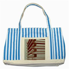 Red Sunglasses Art Abstract  Striped Blue Tote Bag