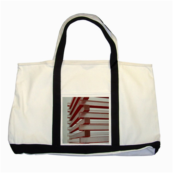 Red Sunglasses Art Abstract  Two Tone Tote Bag