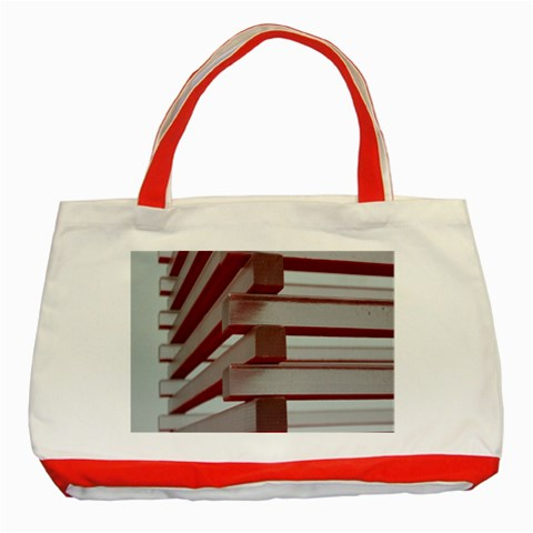Red Sunglasses Art Abstract  Classic Tote Bag (Red)