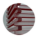 Red Sunglasses Art Abstract  Round Ornament (Two Sides)  Back