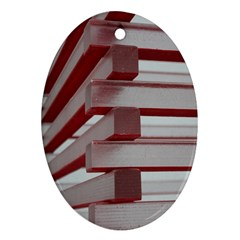 Red Sunglasses Art Abstract  Oval Ornament (Two Sides)