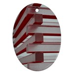 Red Sunglasses Art Abstract  Oval Ornament (Two Sides) Back